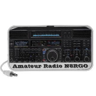 Altavoces de radio aficionados con el indicativo