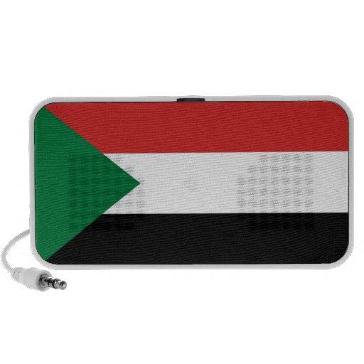 altavoces del doodle de la bandera de país de Sudá