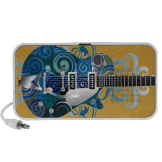 altavoces del doodle de la guitarra de los azules