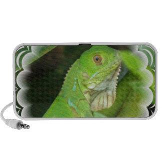 Altavoces del lagarto verde