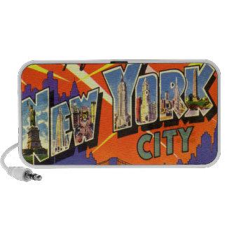 Altavoces del vintage de Nueva York