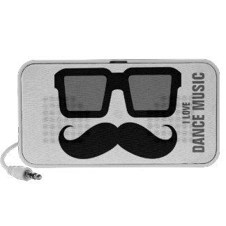 Altavoces divertidos del bigote de las lentes de s