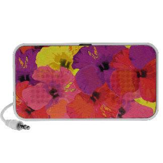 Altavoces florales coloridos