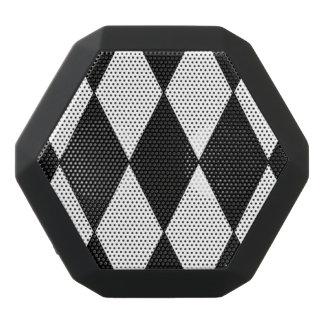 Altavoces portátiles a cuadros negros y blancos altavoces bluetooth negros boombot REX