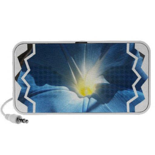 Altavoces portátiles azules de la correhuela