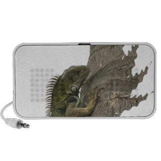 Altavoces portátiles de la imagen de la iguana