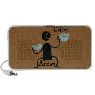 Altavoces portátiles del adicto al café