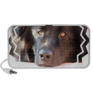 Altavoces portátiles negros del perro de Terranova