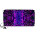 Altavoces portátiles púrpuras del remolino