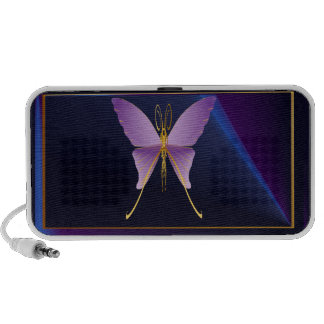 Altavoces púrpuras grandes de una mariposa