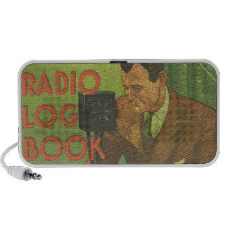 Altavoces retros del Doodle del registro de radio