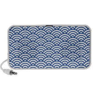 Altavoz abstracto azul blanco del modelo de onda d
