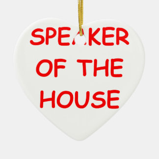 altavoz adorno navideño de cerámica en forma de corazón