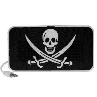 Altavoz alegre de la bandera de pirata de Rogelio