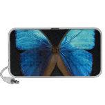 altavoz azul brillante de la mariposa