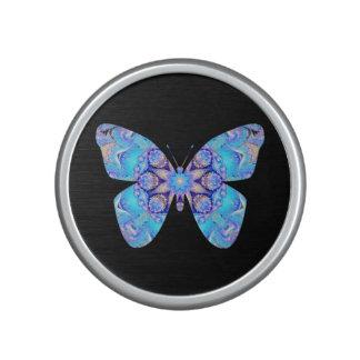 Altavoz azul de la mariposa