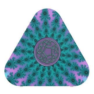 Altavoz céltico púrpura de la mandala del fractal