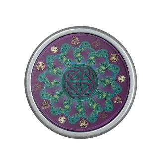 Altavoz céltico verde y púrpura del trullo del