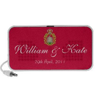 Altavoz conmemorativo de Guillermo y de Kate rojo