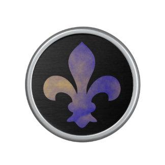Altavoz de Bluetooth de la flor de lis del oro del