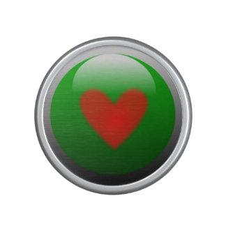 Altavoz de Bumpster con diseño rojo del corazón
