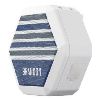 Altavoz de encargo del monograma del modelo de las altavoces bluetooth blancos boombot REX