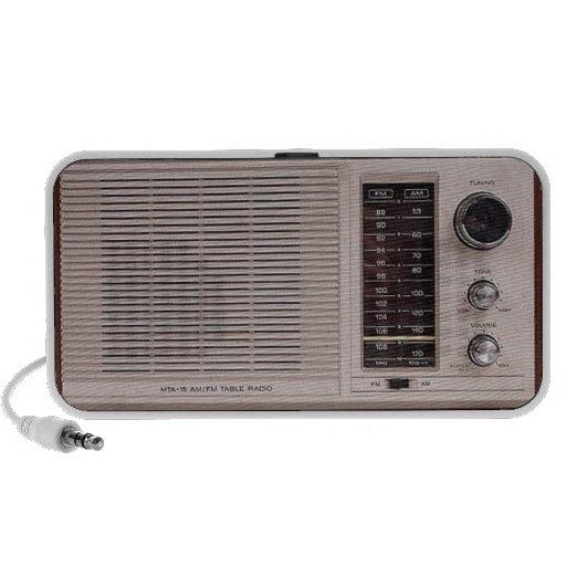 Altavoz de radio blanco del vintage