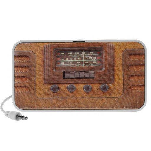 Altavoz de radio de madera del vintage