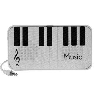 Altavoz del Doodle de la música del piano
