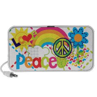 Altavoz del Doodle de la paz y del amor