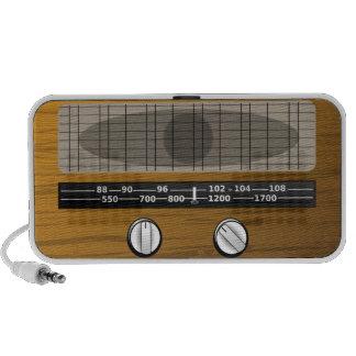 Altavoz del Doodle de la radio del vintage