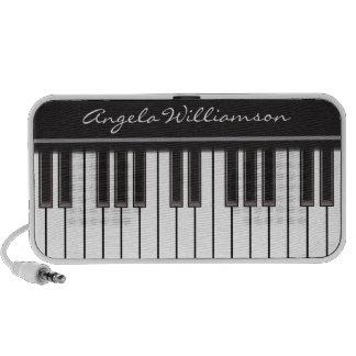 Altavoz del Doodle de las llaves del piano (negro)