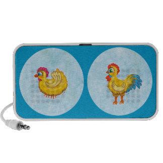 Altavoz del doodle del gallo y del pollo