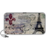 Altavoz del francés del vintage de la torre Eiffel
