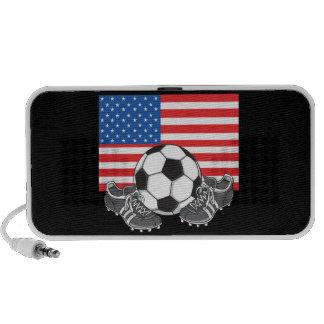 Altavoz del ipad del iphone del Doodle del fútbol