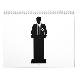 Altavoz del político calendarios