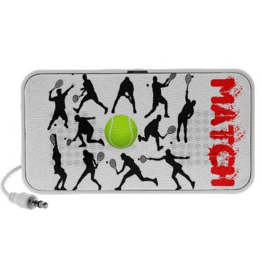 Altavoz: Emparejamiento amoroso del tenis iPod Altavoces