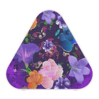 Altavoz floral abstracto púrpura vibrante de