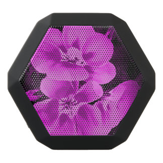 Altavoz floral púrpura rosado de Boombotix Altavoces Bluetooth Negros Boombot REX