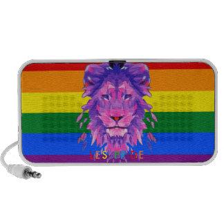 Altavoz lesbiano del orgullo