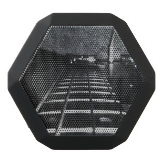 Altavoz negro cubierto con cuero de Boombox de la Altavoces Bluetooth Negros Boombot REX
