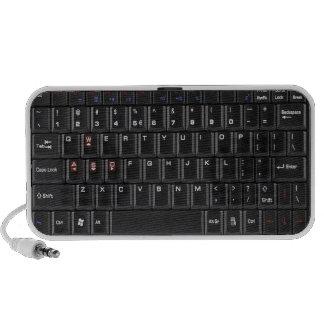 Altavoz negro del Doodle del teclado del ordenador