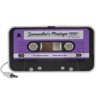 Altavoz personalizado casete retro púrpura de Mixt