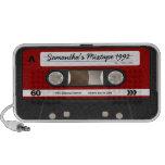 Altavoz personalizado casete retro rojo de Mixtape