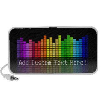 Altavoz personalizado música colorida mp3 del equa