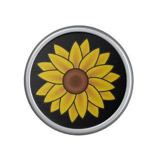 Altavoz portátil amarillo de la flor