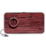 Altavoz portátil de madera rojo rural del anillo d