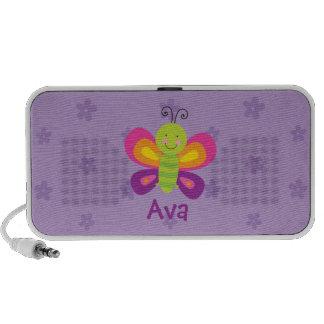 Altavoz portátil personalizado mariposa colorida