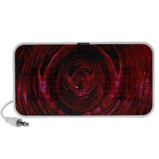 Altavoz portátil rojo de la ondulación