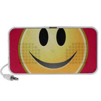 Altavoz portátil sonriente de la cara (rojo)
